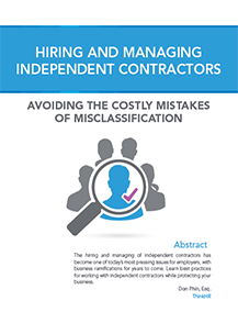 Hiring And Managing Independent Contractors